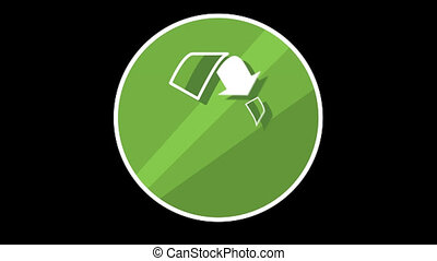 Recycle Flat Icon With Alpha Channel - We offer you a...