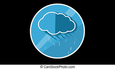 Cloud Flat Icon With Alpha Channel - We offer you a...
