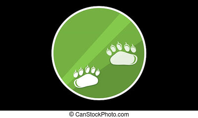 Animal Paws Flat Icon With Alpha Channel - We offer you a...