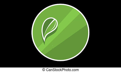 Leaves Flat Icon With Alpha Channel - We offer you a...