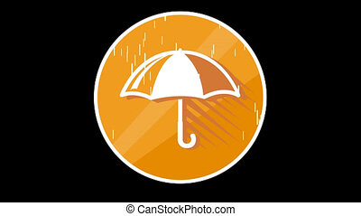 Umbrella Flat Icon With Alpha Channel - We offer you a...