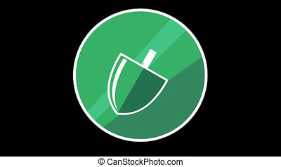 Shovel Flat Icon With Alpha Channel - We offer you a...