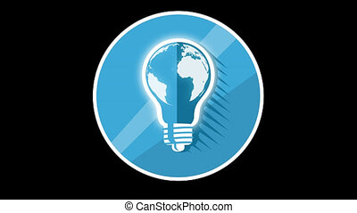 Blue Lamp Flat Icon With Alpha Channel - We offer you a...