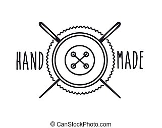hand made design - seal stamp of hand made concept with...