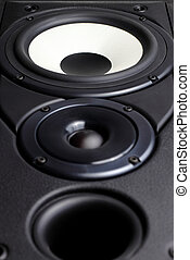 Loudspeaker - Front view of big loudspeaker with two drivers...