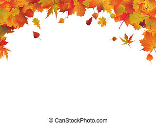 Autumn leafs frame. EPS 8 vector file included