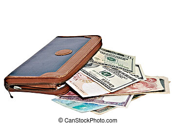 Large Wallet with Currency