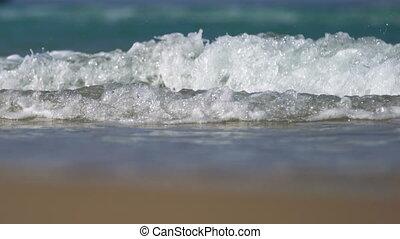 seascape big waves on the beach