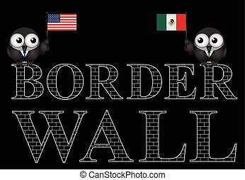 USA Mexico border wall - Representation of the USA border...