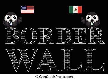 USA Mexico border wall