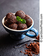 Brigadeiro - traditional Brazilian chocolate delicacy -...