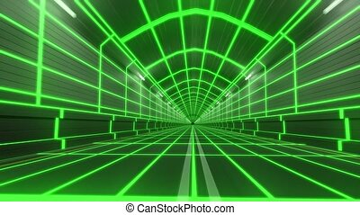 Loop tunnel 80s retro tron future wireframe arcade road tube...