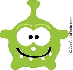 Monster bacillus on white background. Vector illustration.