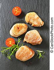 roasted pork medallions