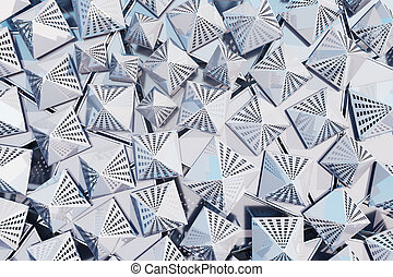 Silver triangle background