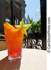 Campari Orange in the Galleria Emanuele in Milan - An Orange...