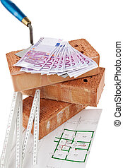 Construction, financing, building societies Brick and -...