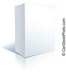 white box on white