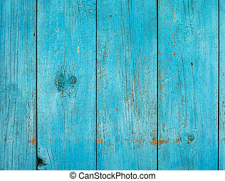 Old shabby painted fence. Rural abstract backgrounds