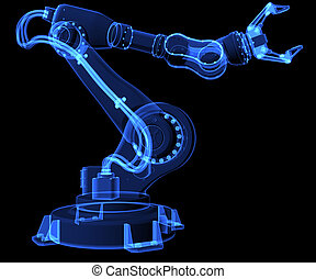 Industrial robot. X-ray style