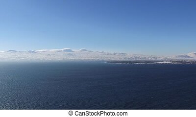 Sevan Lake in Armenia - Winter Lake Sevan in Armenia