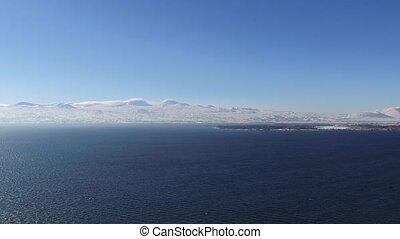 Sevan Lake in Armenia - Winter Lake Sevan in Armenia