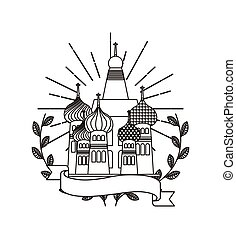 iconic monuments of the world - Saint Basil's Cathedral icon...