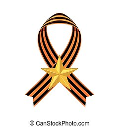 Saint George ribbon icon.