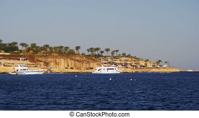 Cruise Boat at Anchor in the Red Sea. - EGYPT, SOUTH SINAI,...
