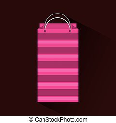 shopping bag icon over brown background. colorful design....