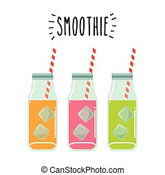 smoothie juice design - glasses with smoothies juices over...