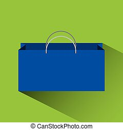 shopping bag icon over green background. colorful design....