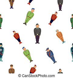 Military pattern, cartoon style - Military pattern. Cartoon...
