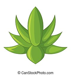 Big agave icon, cartoon style - Big agave icon. Cartoon...