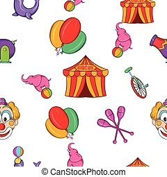 Concert in circus pattern, cartoon style - Concert in circus...