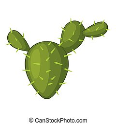 Prickly pear icon, cartoon style - Prickly pear icon....