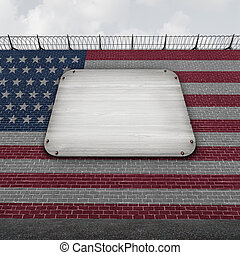 United States Wall Blank Sign