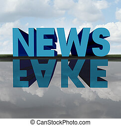 Fake News - Fake news concept and media hoax journalistic...