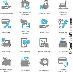 Personal & Business Finance Icons Set 2 - Sympa Series -...