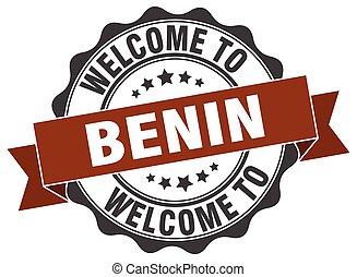 Benin round ribbon seal