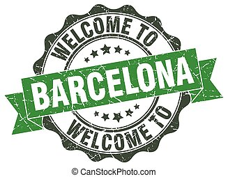 Barcelona round ribbon seal