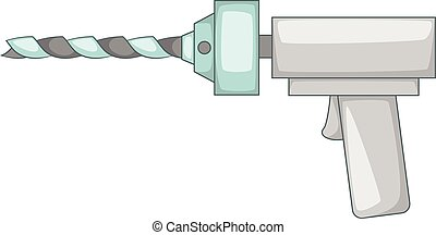 Orthopedic drill icon, cartoon style - Orthopedic drill...