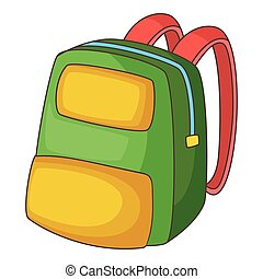 Backpack icon, cartoon style - Backpack icon. Cartoon...
