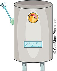 Water heater with wi fi connection icon. Cartoon...