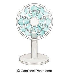 Small ventilator icon, cartoon style - Small ventilator...