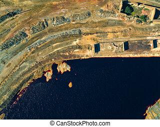 cobre,  Sao, abandonado, mina, extracción,  domingos, viejo
