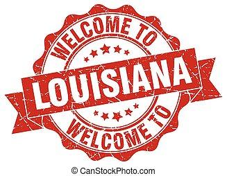 Louisiana round ribbon seal