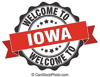 Iowa round ribbon seal