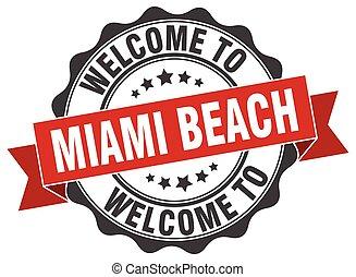Miami Beach round ribbon seal