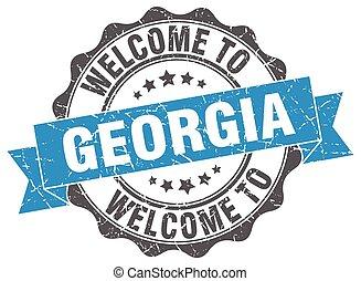 Georgia round ribbon seal